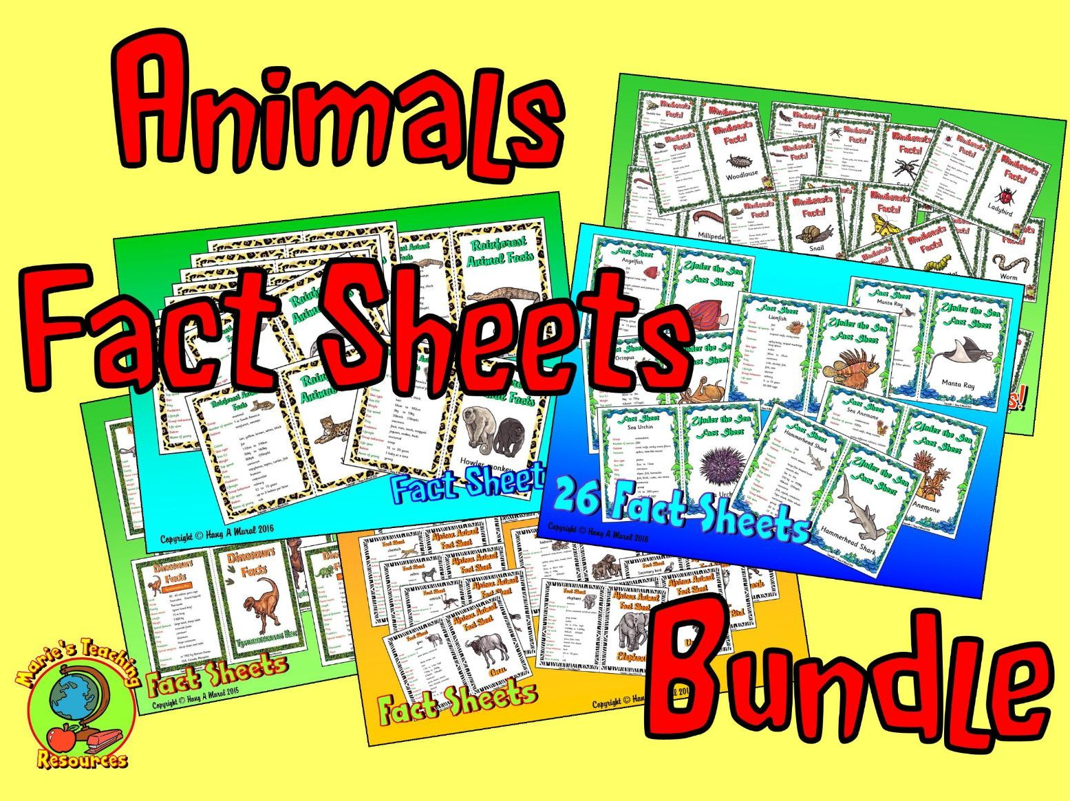 Animals Fact Sheets Bundle