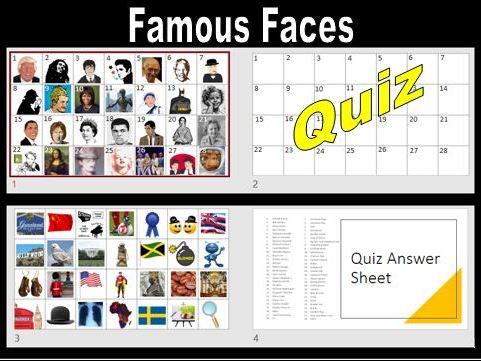Famous Faces (2 in 1) Quiz KS2+
