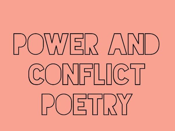Power and Conflict Poetry Imagery Revision