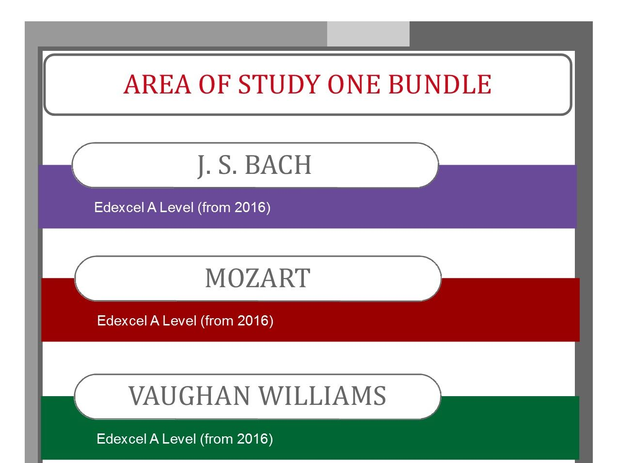 Area of Study One: Vocal Music Bundle for Edexcel Music A level (from 2016)