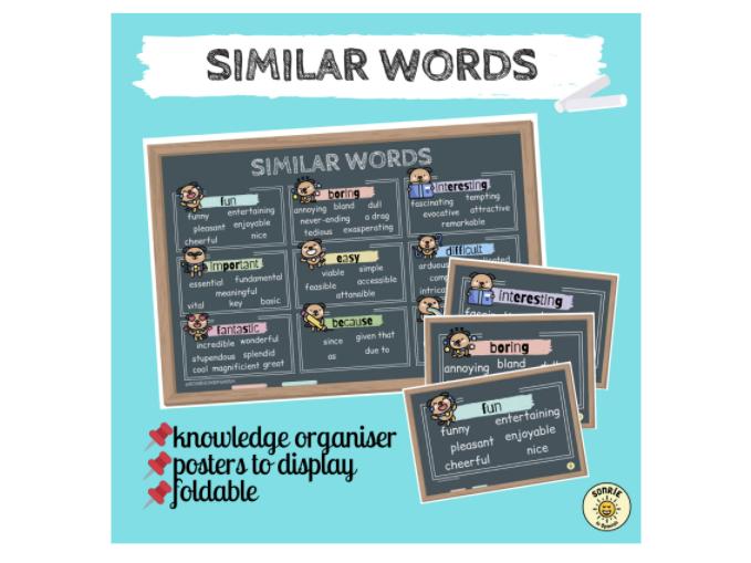 English similar words. Palabras similares en inglés para mejorar la expresión oral/escrita