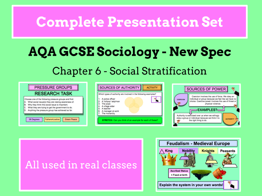 AQA GCSE SOCIOLOGY NEW SPECIFICATION - Unit 6 - Social Stratification