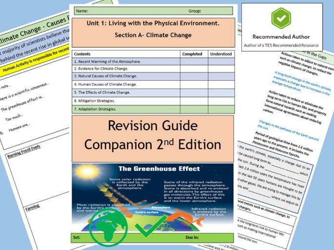 AQA 9-1  Climate Change Revision Guide Companion Home Learning Booklet.