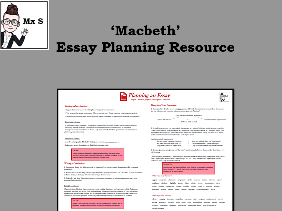 Macbeth - Essay Planning Knowledge Organiser