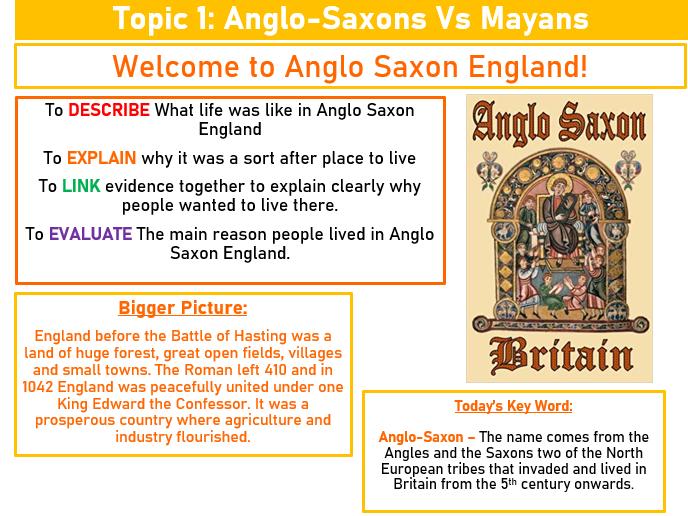 Ancient Maya & Anglo Saxon England SOW.