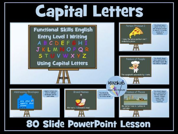Entry Level 1 Functional Skills English - Capital Letters