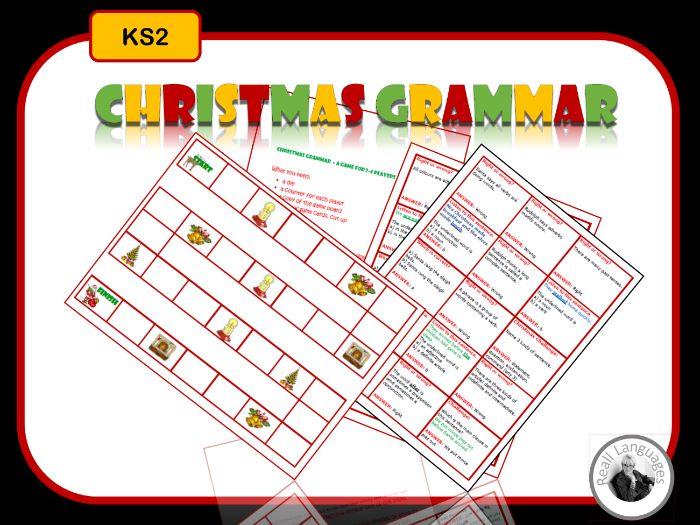 Christmas Grammar Game - KS2