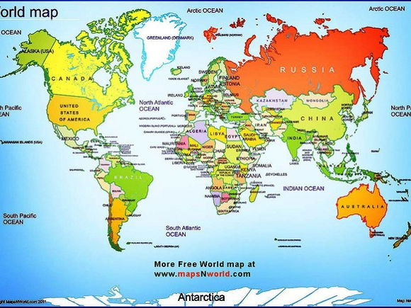 Continents And Oceans By Edrh Teaching Resources Tes - World map continents and oceans