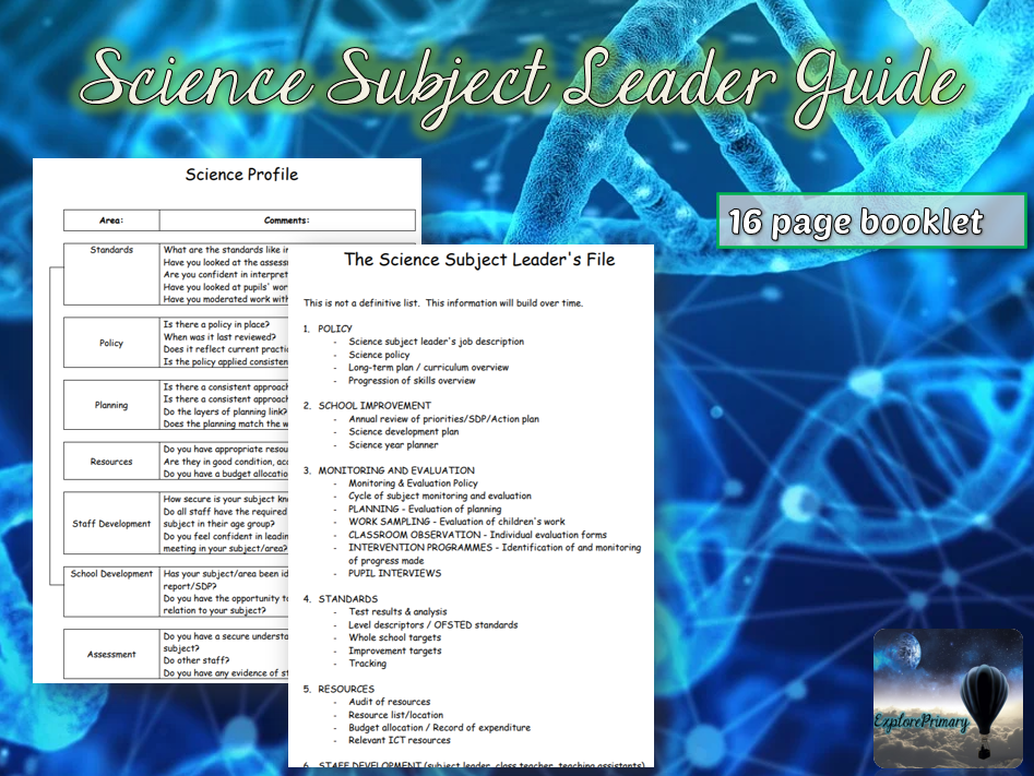 The Guide to being Science Subject Leader