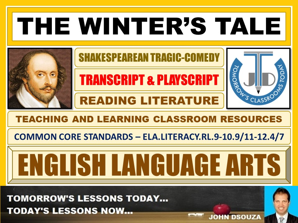 THE WINTER'S TALE - TRANSCRIPT AND PLAY-SCRIPT - FREEBIE