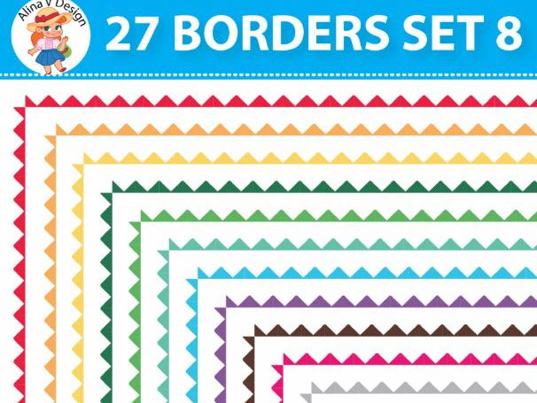 27 Colorful Borders Set 8