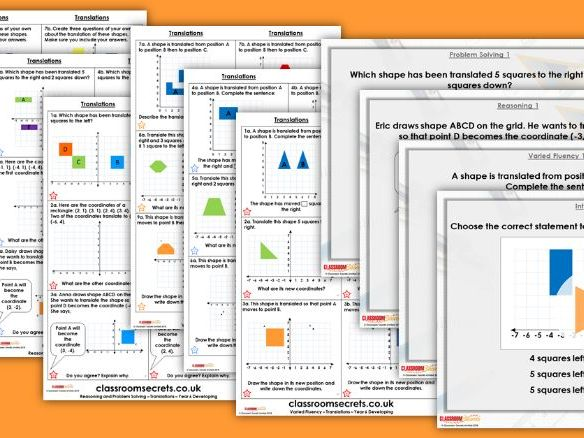 Year 6 Translations Autumn Block 4 Step 3 Lesson Pack