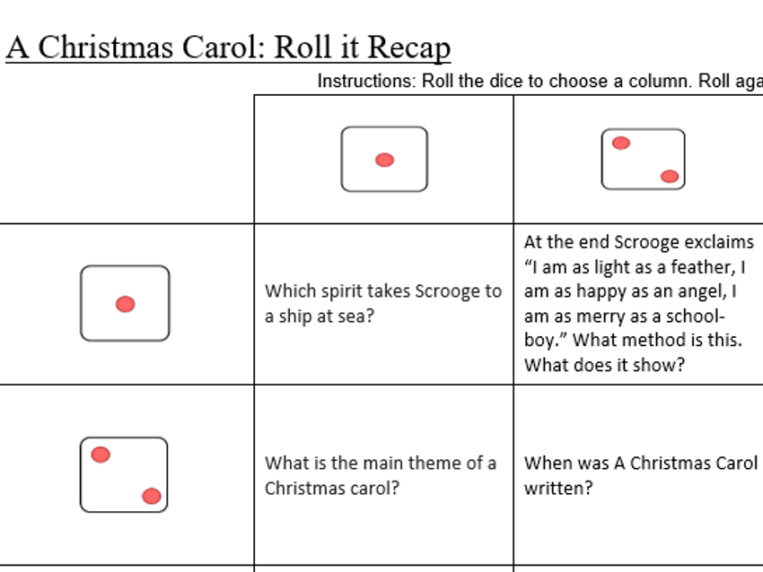 A christmas carol revision game by klawrex teaching resources tes cover image ccuart Gallery