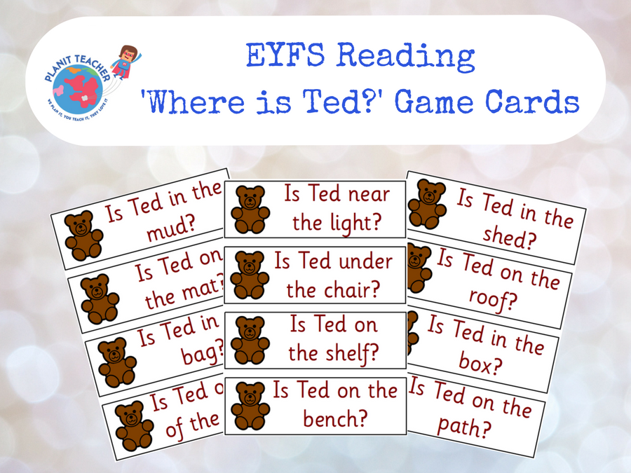 EYFS Reading/Phonics - Where is Ted? Activity Cards