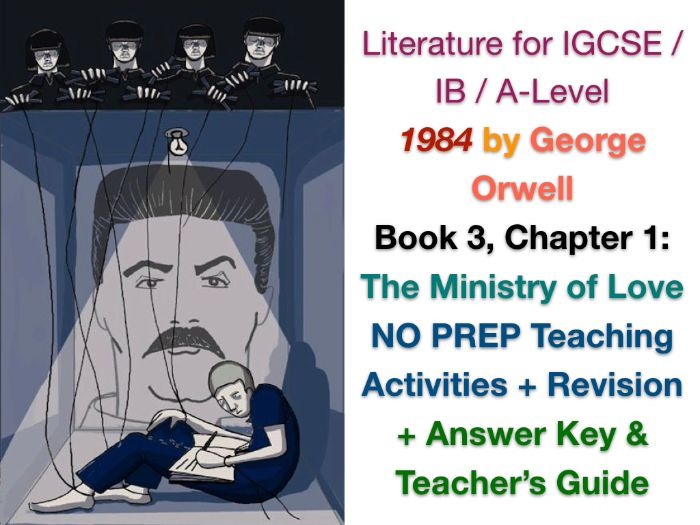 FREE George Orwell - 1984 - Book 3, Ch. 1: Ministry of Love (IGCSE EXAM PREP + ANSWERS)