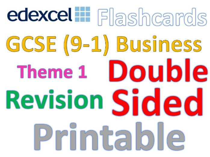 Business Flashcards.  GCSE Edexcel Business 9-1 Theme 1