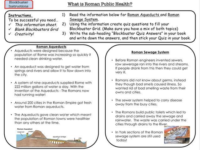 Romans What is Roman Public Health?