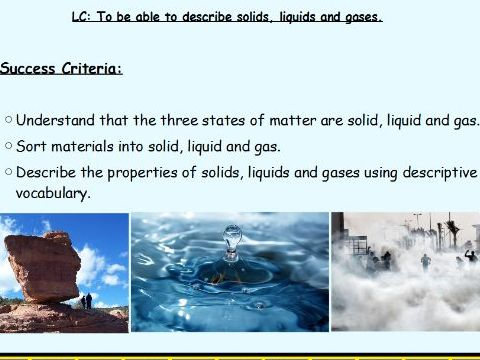 Science Unit Planning & Resources - States of Matter - Year 4
