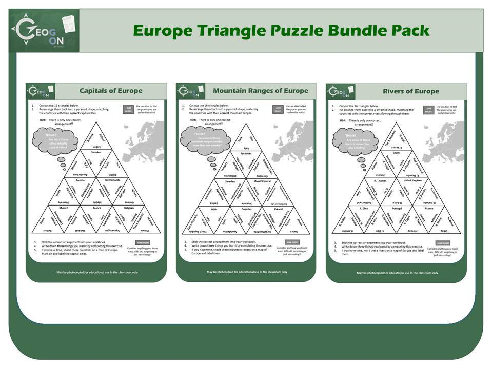 Europe Triangle Puzzle Bundle Pack