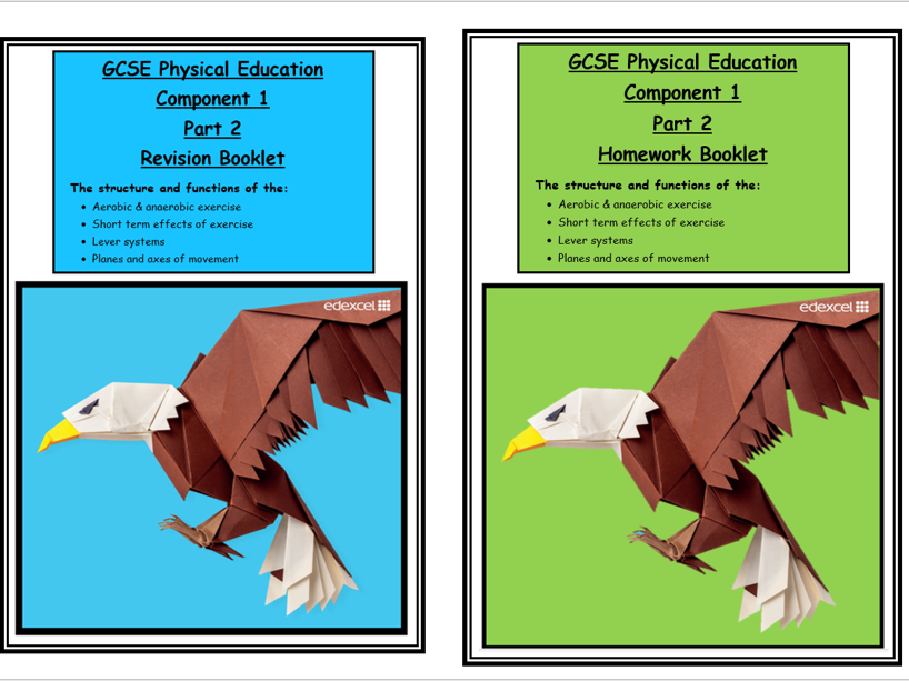 GCSE PE -Edexcel - Component 1 -  Revision and Homework Booklets part 2