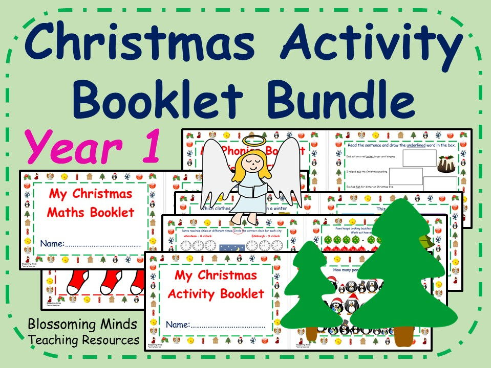 Year 1 Christmas Activity Booklets Bundle