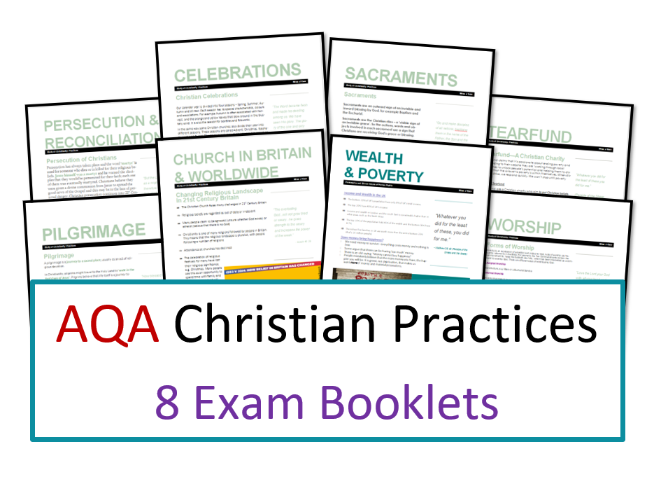 AQA Exam Booklet Unit for Christian Practices