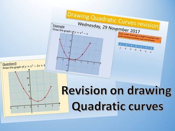 Drawing Quadratic Curves Revision