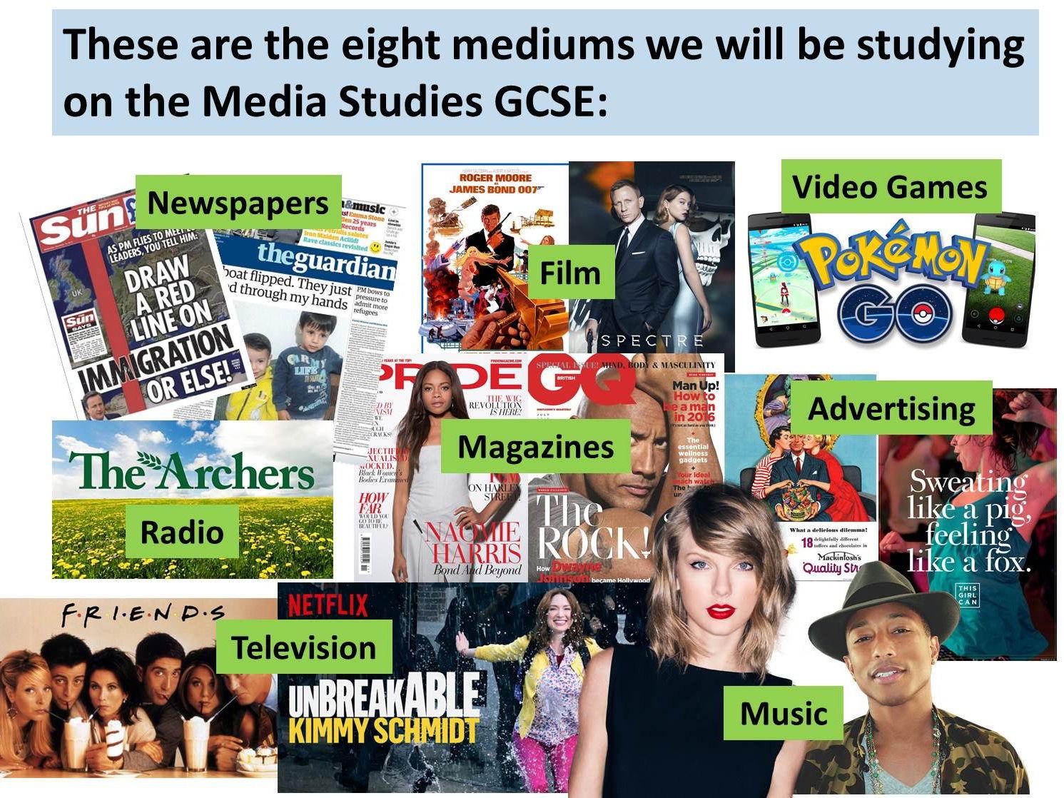 9-1 GCSE Media Studies Key Concepts (7 week SoW)