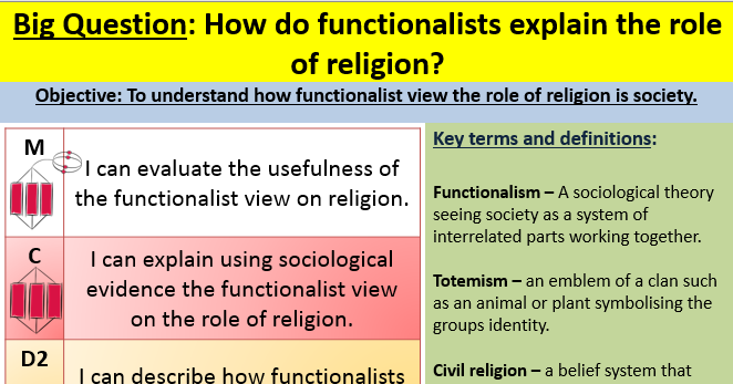 Functionalism and religion lesson