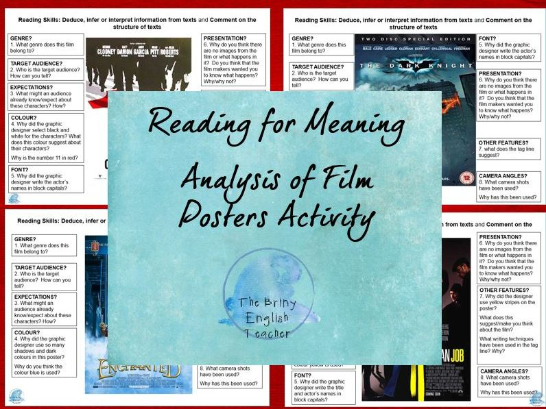 Reading for Meaning - Film Posters to Explore Meaning