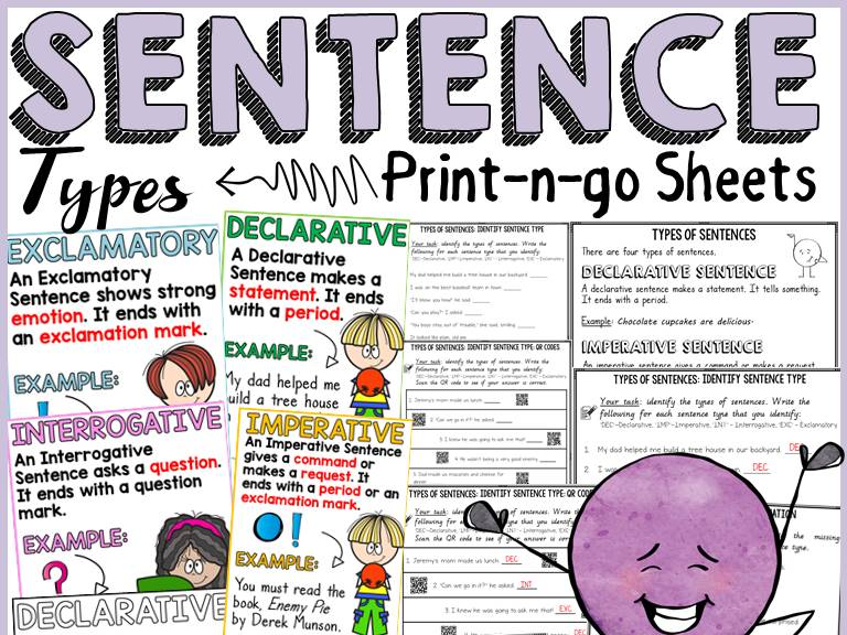 SENTENCE TYPES: PRINT-N-GO-SHEETS