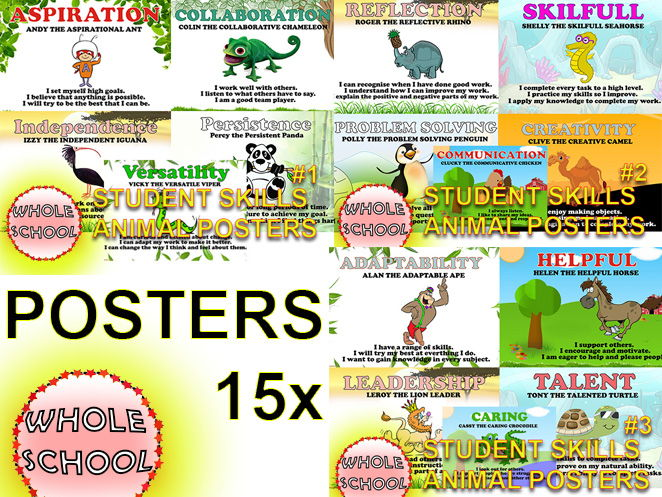 Primary Poster Student skills bundle AWESOME