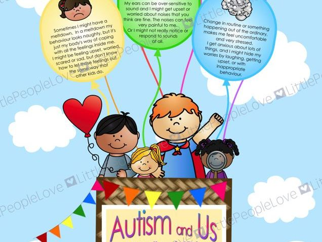 Autism Awareness Poster - Hot Air Balloon