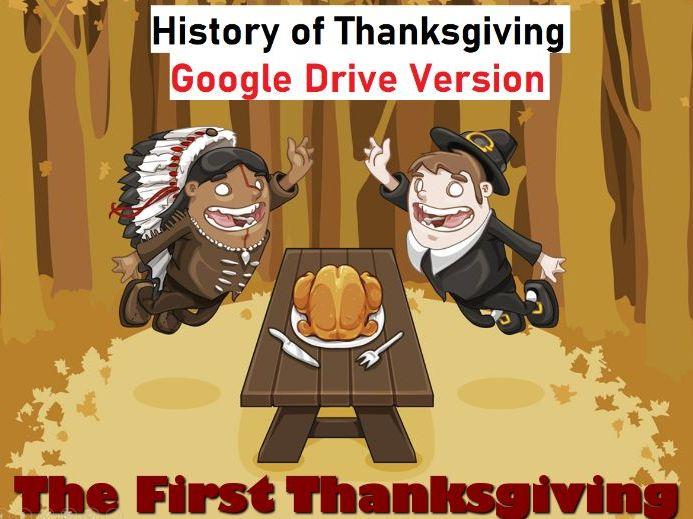 History of Thanksgiving Presentation - Grades K-1 - Google Drive
