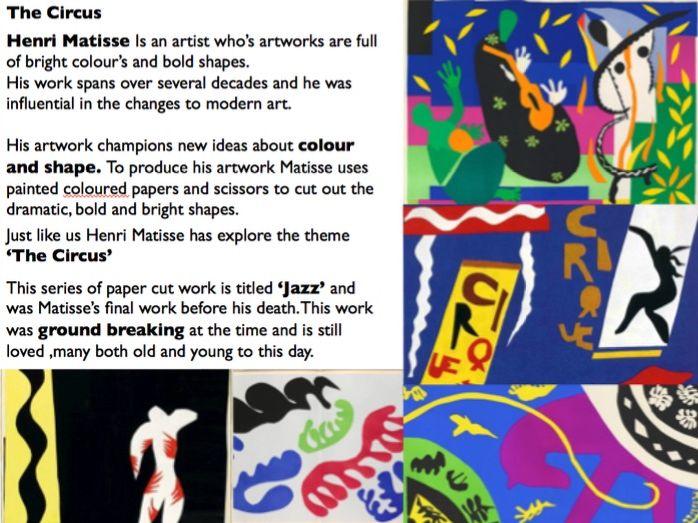 Henri Matisse Pencil Crayon Cover Lesson  KS3