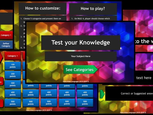 Jeopardy - Test your knowledge
