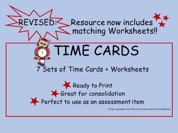 Time Cards + Worksheets