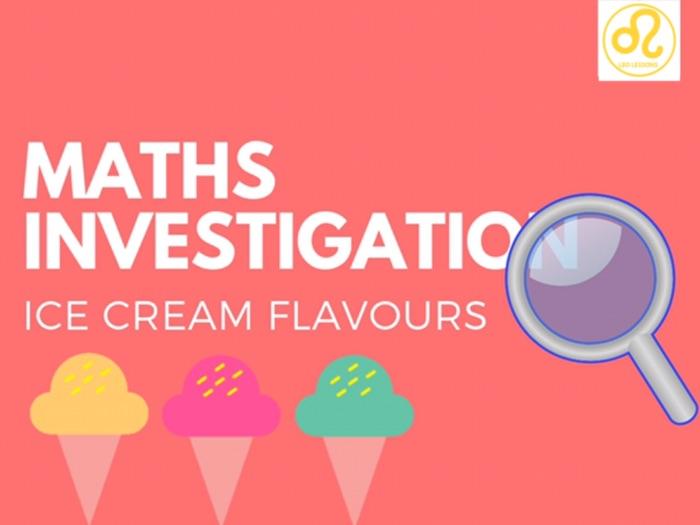 Maths Investigation ice cream
