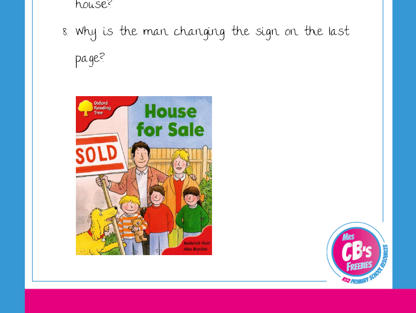 House for sale - Guided reading questions