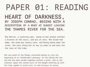 Home School: GCSE Language Paper 01: Reading Questions: Heart Of Darkness