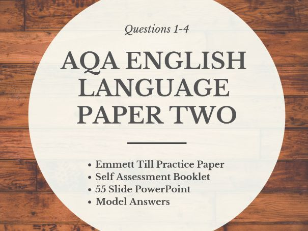 English Language Paper Two Section A