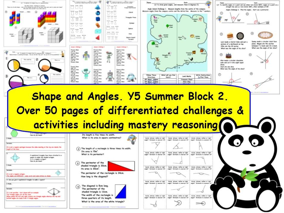Geometry Properties of Shapes & Angles KS2 Y5 Summer Block 2 Measure & Calculate Anlges & Polygons