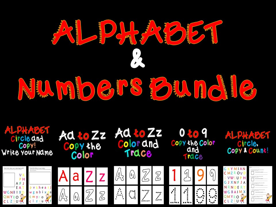 Alphabet & Number - Bundle