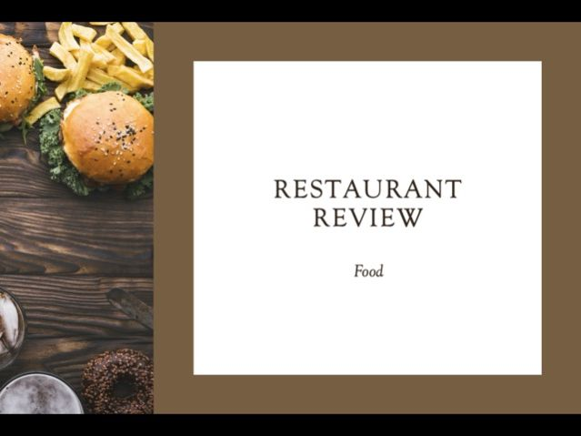 Writing a Restaurant Review (IGCSE English as a Second Language)