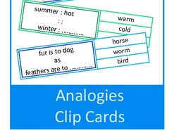 Analogies Clip Cards, Autism, Special Education, Speech Therapy