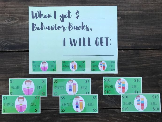 Behavior Bucks Classroom Management Game (Token Economy)