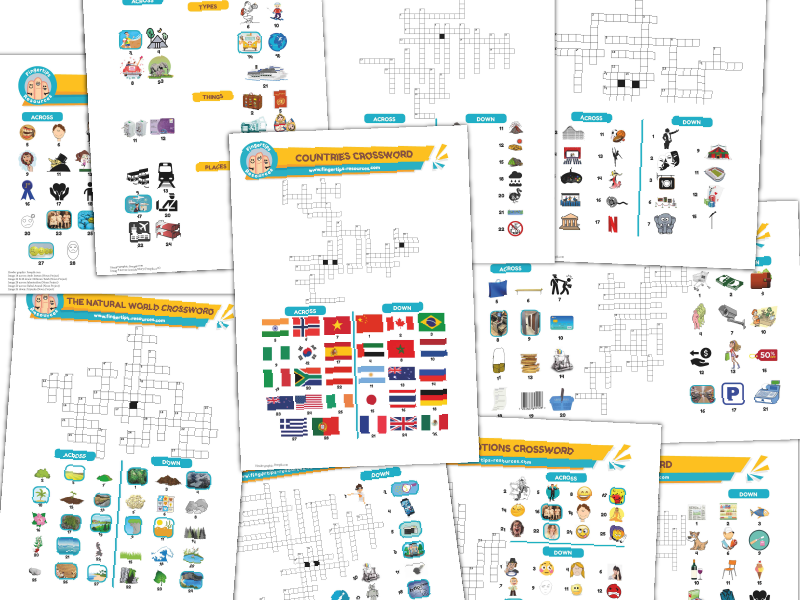 10 x ESL Crosswords Bundle (Pack 3)