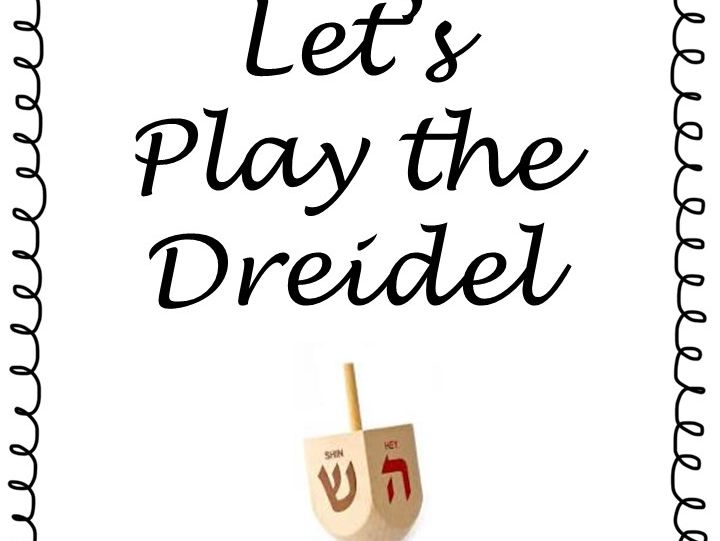 Dreidel Game - Simple,Easy to play - Print, Assemble, Laminate and Play!