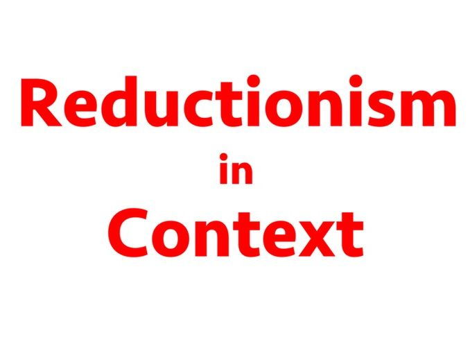 Reductionism in the context of Psychology