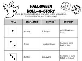 Halloween Roll A Story
